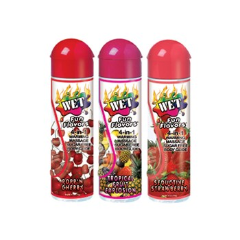 wet fun flavors 4 in 1 warming lube