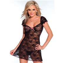 Kissable Floral Babydoll at BetterSex.com