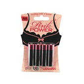 pink power batteries aa 4 pack