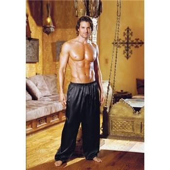 drawstring charmeuse pants