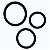 black tri rings penis ring set