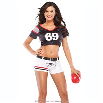 Female Football Player Uniform at BetterSex.com