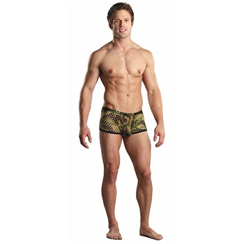 camo net mini shorts