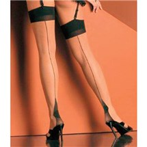 cuban heel sheer thigh hi