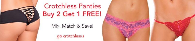 Crotchless Panty Sale