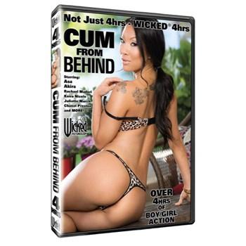 Brunette female in lingerie backside view