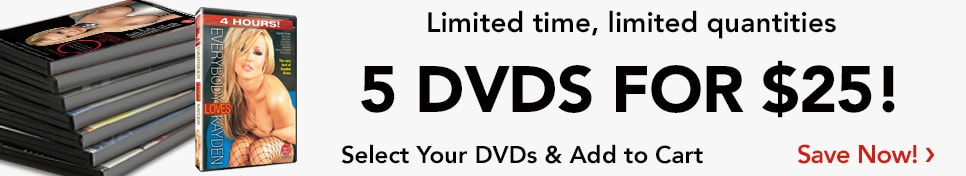 Limited time, limited quantities. 5 DVDs for $25! Select your DVDs and add to cart. Shop now.