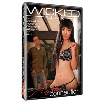 Brunette female in lingerie male in background Axel Braun's Asian Connection