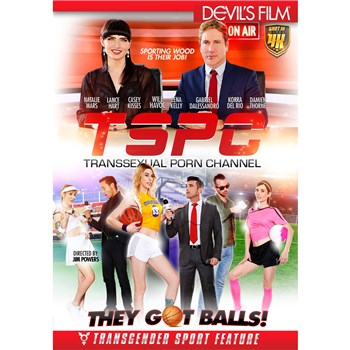 TS females dressed as athletes with sports reporters TSPC channel