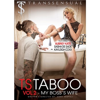 Blonde TS female on tub with male TS Taboo