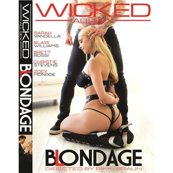 Restrained Blonde female wearing lingerie Blondage