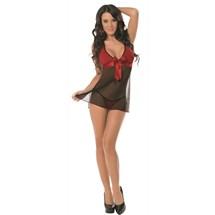 Female model wearing Sexy Sheer Babydoll
