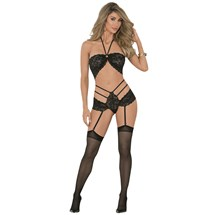 Blonde female modeling sexy lingerie