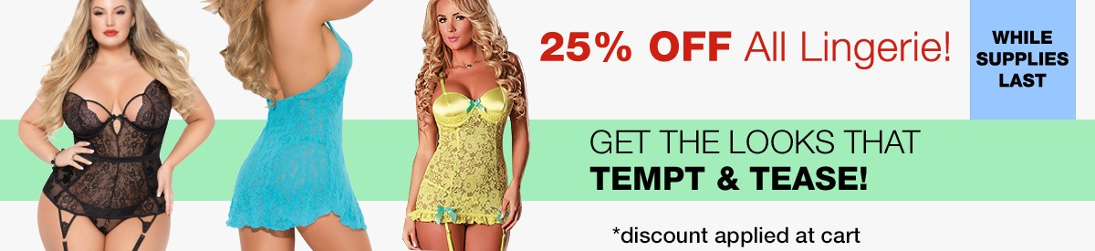 25% Off All Lingerie