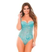 Model wearing Monroe Lace Teddy
