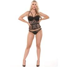 model wearing Eve's Seductive Busiter & Panty Set