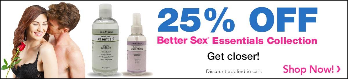 25% Off BetterSex Essentials Collection